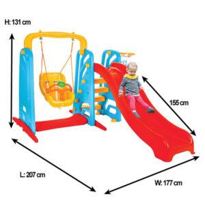 Пързалка за деца Wavy с люлка