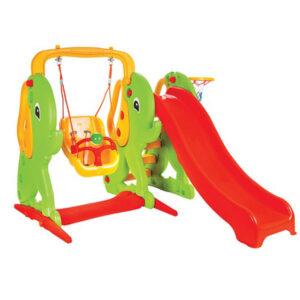 Пързалка за деца Слонче с люлка 157см