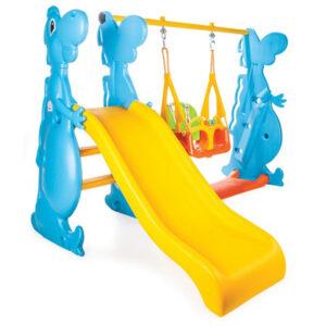 Пързалка за деца Dino с люлка
