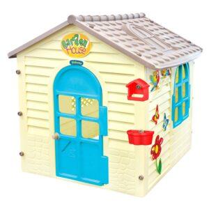 Малка детска къща с дъска за рисуване 12239