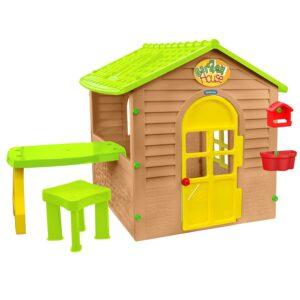 Детска къща с маса и стол 12240