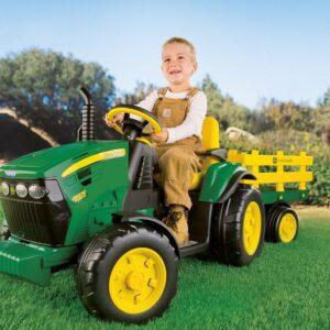 Детски Акумулаторен Трактор с ремарке J.Deere Ground Force