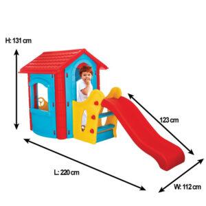Детска къща с пързалка 06432
