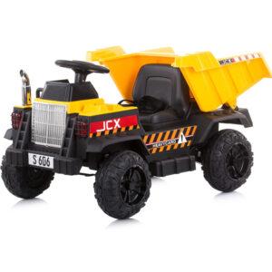 Aкумулаторно камионче за деца Джъмбо, жълто